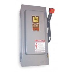 Square D - HU362RB - Safety Switch, 3R NEMA Enclosure Type, 60 Amps AC, 30 HP @ 600VAC HP