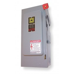 Square D - HU364 - Safety Switch, 1 NEMA Enclosure Type, 200 Amps AC, 125 HP @ 600VAC HP