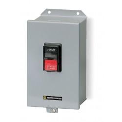 Square D - 2510MBA2 - Push Button Manual Motor Starter, Enclosure NEMA Rating 12, 18 Amps AC, NEMA Size:M-0