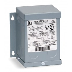 Square D - 100SV1A - Wall-Mount 240/480VAC General Purpose Transformer, 100VA, 120/240VAC Output Voltage