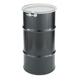 Skolnik - CQ1602 - 16 gal. Black Steel Open Head Transport Drum