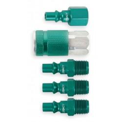 Legacy Manufacturing - A71456B-BG - Aluminum, Steel ARO Quick Coupler/Plug Kit