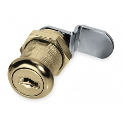 American Lock - ADCL11803KA-C346A - Alike-Keyed Standard Keyed Cam Lock Key # C346A, For Door Thickness (In.): 7/8, Bright Brass