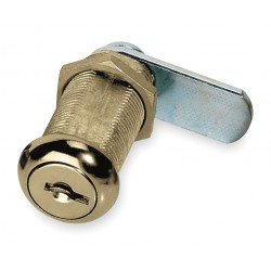American Lock - ADCL13803KA-C346A - Alike-Keyed Standard Keyed Cam Lock Key # C346A, For Door Thickness (In.): 1-1/8, Bright Brass