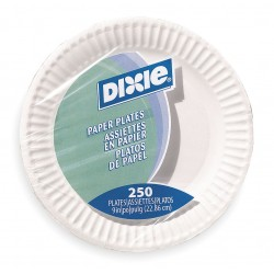 Dixie - 709902WNP9 - 9 Round Disposable Plate, White; PK250