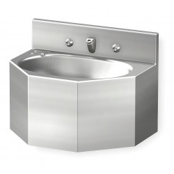 Acorn Aqua - 1657-1-BP-04-M - Stainless Steel Wall Penal Bathroom Sink With Faucet, 9-1/2 x 14-3/4 Bowl Size