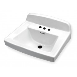 Gerber - 12-654 - Vitreous China Wall Hung Lavatory Sink Without Faucet, 15 x 10 Bowl Size