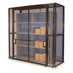 Husky Rack and Wire - SWL481872 - Gray Steel Wire Mesh Enclosure Kit 75H x 62-1/2W x 26-1/4D