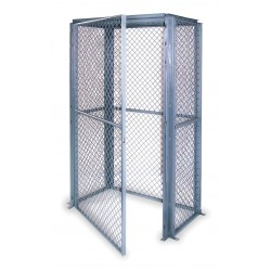 Husky Rack and Wire - SWL483672 - Gray Steel Wire Mesh Enclosure Kit 75H x 62-1/2W x 44-1/2D