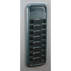 OfficeMate - 29132 - 8-Capacity CD/DVD Rack Partition Organizer, Gray, 1 EA