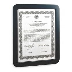 OfficeMate - 29172 - OIC Verticalmate Certificate Holder - Plastic - Slate Gray