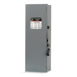 Square D - DTU361 - Safety Switch, 1 NEMA Enclosure Type, 30 Amps AC, 30 HP @ 600VAC HP