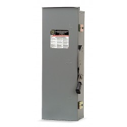 Square D - DTU363RB - Safety Switch, 3R NEMA Enclosure Type, 100 Amps AC, 75 HP @ 600VAC HP