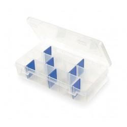 Flambeau - 2003 - Adjustable Compartment Box, Translucent, 1-1/2H x 4-1/8L x 7W, 1EA