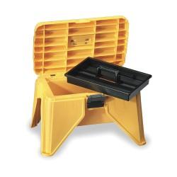 Flambeau - 22500-3 - Polypropylene Step Stool Tool Box, 13-1/4H x 21-5/8W x 15, Yellow