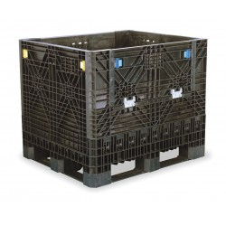 Buckhorn / Myers Industries - BI4840392010000 - Collapsible Bulk Container, Black, 40H x 48L x 40W, 1EA