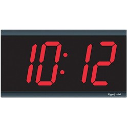 Pyramid Technologies - 41357G - Arabic Wall Wall Clock, Black Rectangle