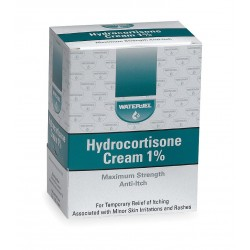 Water-Jel - 049072 - Hydrocortisone Cream, Cream, Box, Wrapped Packets, 0.030 oz.