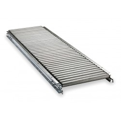 Ashland Conveyor - 11F05EG03B22 - Roller Conveyor, 5 ft. L, 22BF