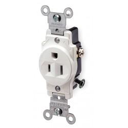 Leviton - 5015-W - Leviton 5015-W Power Socket - 1 x NEMA 5-15R - 15 A