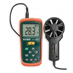 Extech Instruments - AN100 - Extech AN100 Thermo-Anemometer, LCD
