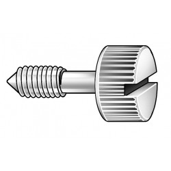 Other - 100SS440 - 21/32 18-8 Stainless Steel Captive Panel Screw with 4-40 Thread Size and Knurled Head Type