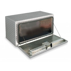 Jobox - 761980 - Aluminum Underbody Truck Box, Silver, Single, 9.0 cu. ft.