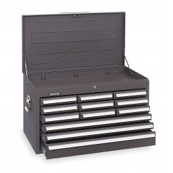 Kennedy - 3412XB - 00858 Mech. 12 Drawer Chest W/tubular Lock Brown