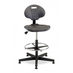 Bevco Precision - 7500 - Black Polyurethane Task Chair 12-1/2 Back Height, Arm Style: No Arms