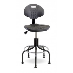 Bevco Precision - 7600 - Black Polyurethane Task Chair 12-1/2 Back Height, Arm Style: No Arms