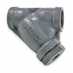 Mueller Steam Specialty - 1 581 SS SCREWED END - 1 Y Strainer, FNPT x FNPT, 1/16 Mesh, 4-9/16 Length, Cast Stainless Steel