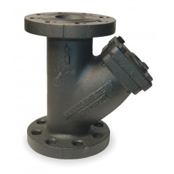 Mueller Steam Specialty - 21/2 752 IRON BODY FLANGED - 2-1/2 Y Strainer, Flanged, 0.062 Mesh, 11-1/16 Length, Cast Iron