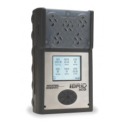 Industrial Scientific - MX6-K1230111 - Industrial Scientific MX6 iBrid Portable Combustible Gas, Carbon Monoxide, Hydrogen Sulphide And Oxygen Monitor With Li-Ion Battery and Pump, ( Each )