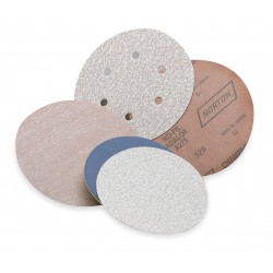 Saint Gobain - 07660701811 - 5 PSA Sanding Disc, 150 Grit, Fine, Coated, 8 Hole, Aluminum Oxide, PK5