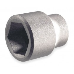 """Ampco Safety Tools - SS-1/2D19MM - 19mm Aluminum Bronze Socket with 1/2"""" Drive Size and Natural Finish"""