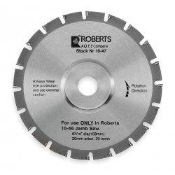 QEP - 10-47-2 - Jamb Saw Blade, 6 3/16 In, Carbide Tip