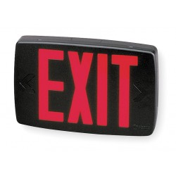 Acuity Brands Lighting - LQM S 3 R 120/277 M6 - LED Exit Sign, Black Housing Color, Thermoplastic Housing Material