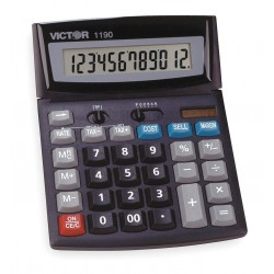 Victor - 1190 - Finance Portable Calculator, LCD, 12 Digit
