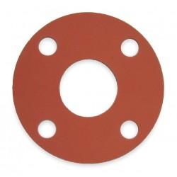 Other - 7124FF-0150-125-0075 - SBR Blend Flange Gasket, 3-7/8 Outside Dia., Red