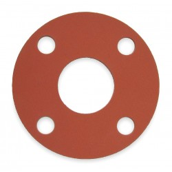 Other - 7124FF-0150-125-0250 - SBR Blend Flange Gasket, 7 Outside Dia., Red