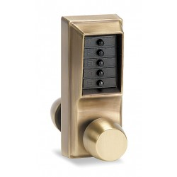Kaba Ilco - 1011-05-41 - Mechanical Push Button Lockset, 5 Button, Vandal Resistant, Entry, Antique Brass