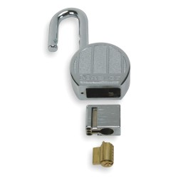 "Master Lock - 230 - Different-Keyed Padlock, Open Shackle Type, 1"" Shackle Height, Silver"
