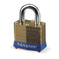 "Master Lock - 2KA-X2431 - Alike-Keyed Padlock, Open Shackle Type, 15/16"" Shackle Height, Brass"