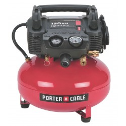Porter Cable - C2002 - 0.90 HP, 115VAC, 6 gal. Portable Electric Oil-Free Air Compressor, 150 psi