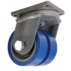 Hamilton Caster - S-MDD-83SYT-4SL - 8 Extra Super Duty Swivel Plate Caster, 7000 lb. Load Rating