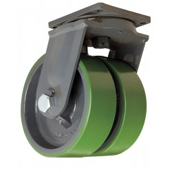 Hamilton Caster - S-MDD-13DT-4SL - 10 Extra Super Duty Swivel Plate Caster, 6000 lb. Load Rating