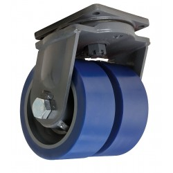 Hamilton Caster - S-MDD-104SYT-4SL - 10 Extra Super Duty Swivel Plate Caster, 10, 000 lb. Load Rating