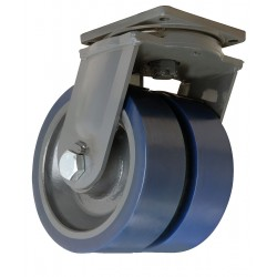 Hamilton Caster - S-MDD-124SYT-4SL - 12 Extra Super Duty Swivel Plate Caster, 12, 000 lb. Load Rating