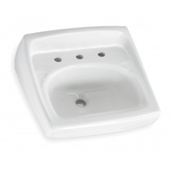 American Standard - 0356015.020 - Vitreous China Wall Bathroom Sink Without Faucet, 15 x 10 Bowl Size