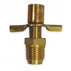 Anderson Metals - 6788 - MNPT Drain Cock, 150 psi, 1-9/16H x 1/4 Pipe Size
